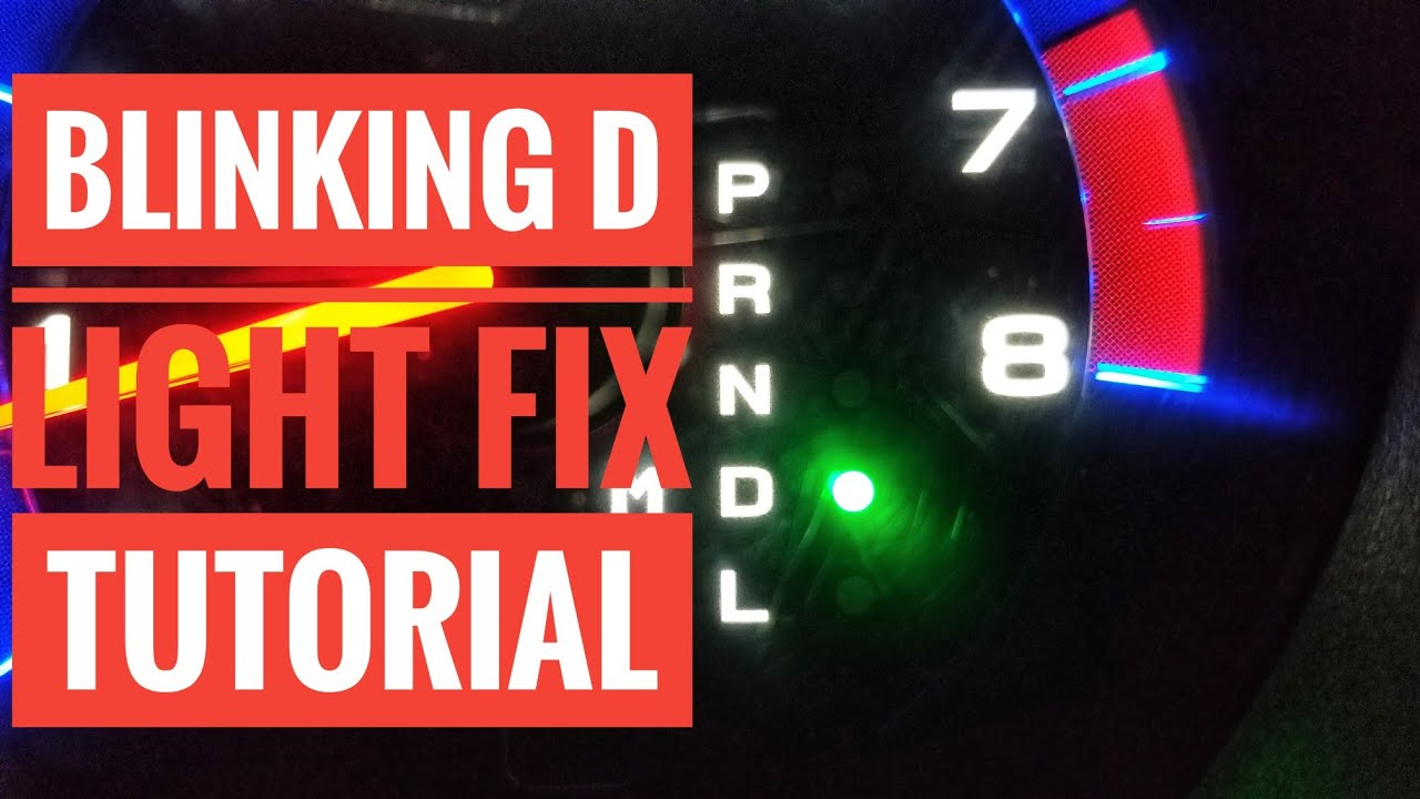 2000 honda accord d4 light blinking