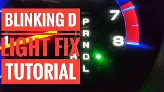 how to fix a blinking d light on your car quick and easy