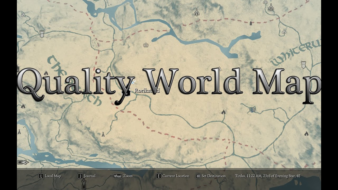 skyrim nexus quality world map A Quality World Map And Solstheim Map With Roads At Skyrim Nexus