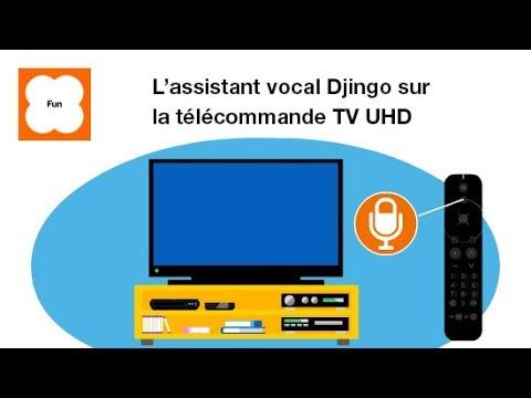 l assistant vocal djingo sur la telecommande tv uhd pilotage de la tv a voix orange