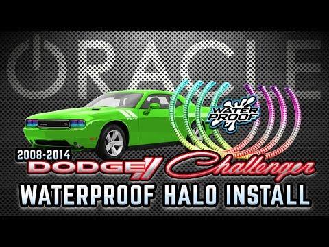 Qiuko CCFL 4 Halo Rings For Dodge Challenger 08-14 Car Headlight Angel eyes LED lights