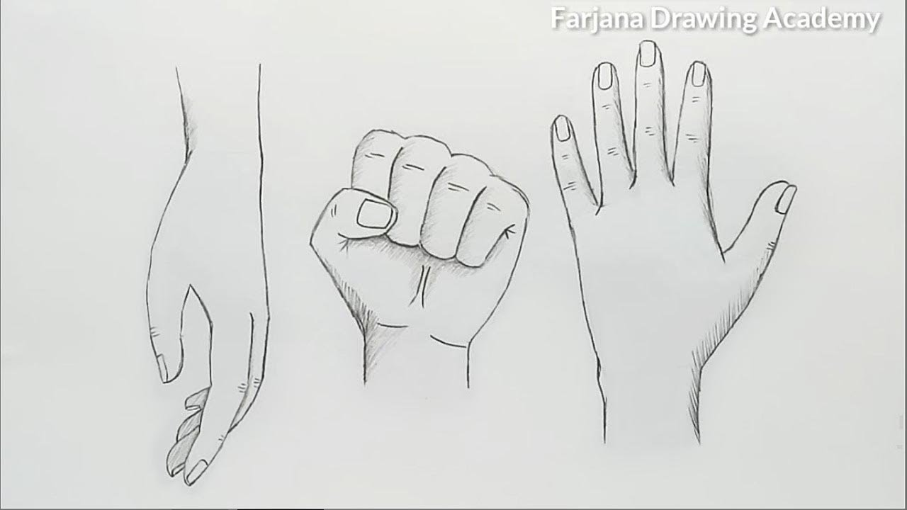 hands drawing tutorial for beginners 3 different ways youtube