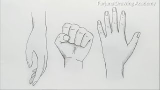 hands drawing tutorial for beginners / 3 Different Ways