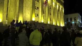 Daily rally in Tbilisi to support Ukraine