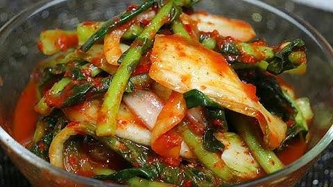 김치요리[얼갈이열무김치]특별한 양념없이도 맛있게 담그는게 비법!봄김치 얼갈이김치,열무김치 맛있게 담는법!
