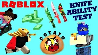 Roblox KAT Knife Ability Test / They Killed Potato Joe! 😭 Assassin, MM2 #roblox