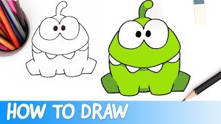 How to Draw Om Nom (Cut the Rope)