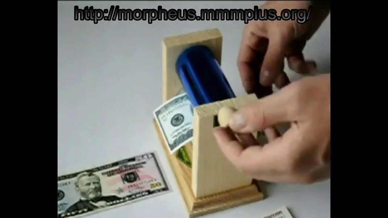Как сделать в домашних условиях машинку для денег 100