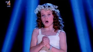 9 year old amira sings ave maria hollands got talent 2013