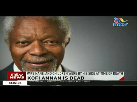 Kofi Annan, the former UN secretary-general who won the Nobel Peace Prize for humanitarian work, died  aged 80. He is said to have died in Switzerland, this morning after a short illness.  Annan, who was born in Ghana in 1938, served as the seventh UN Secretary-General, from 1997 to 2006, and was the first to rise from within the ranks of the United Nations staff. Annan also acted as a mediator during the post-election violence period in Kenya 10 years ago.  Annan was awarded the Nobel Peace Prize jointly with the United Nations in 2001 \