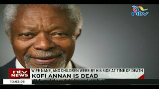 Former United Nations Secretary-General, Kofi Annan is dead