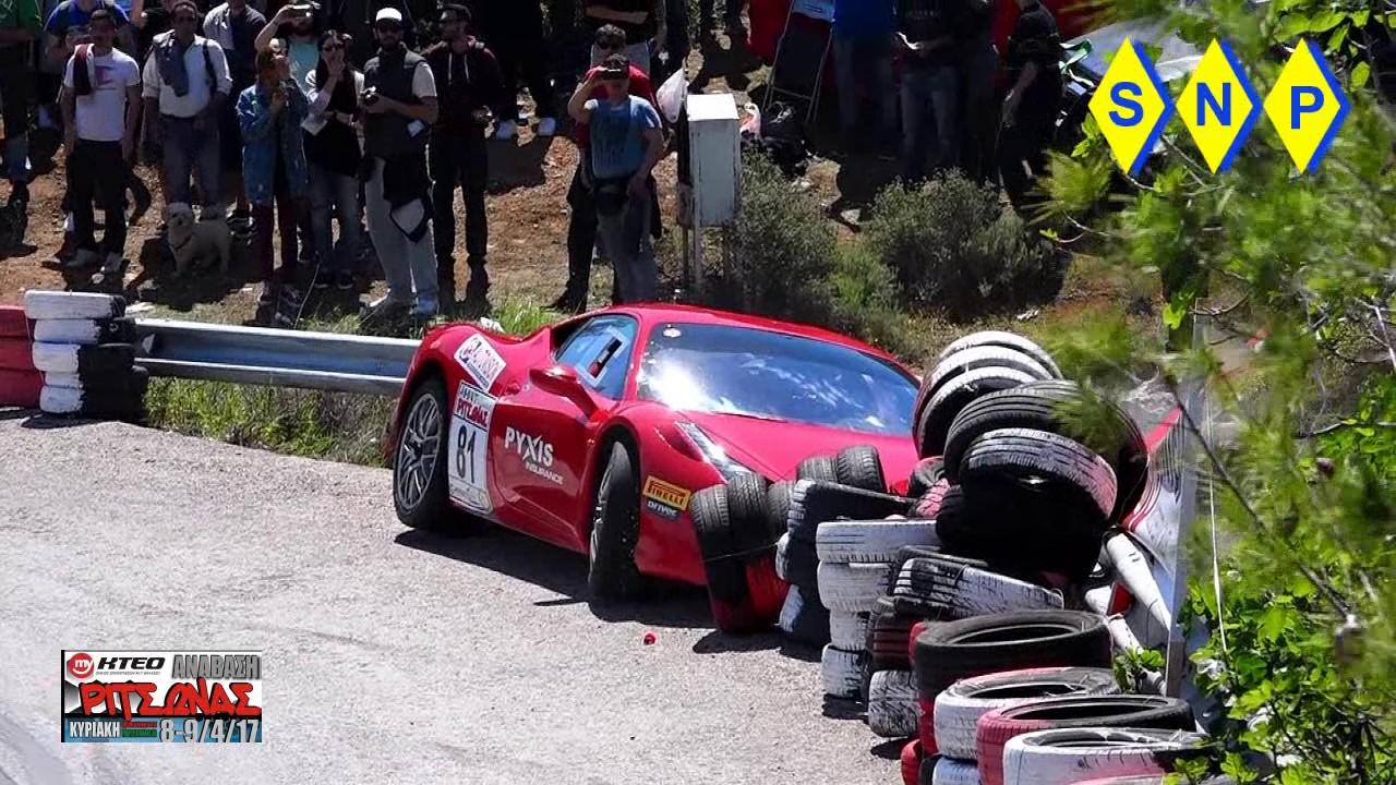 Αποτέλεσμα εικόνας για Ατύχημα με Ferrari 458 στην Ριτσώνα (video)