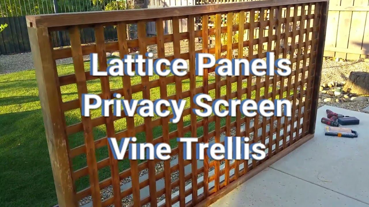 How To Make Lattice Panels Privacy Screens Vine