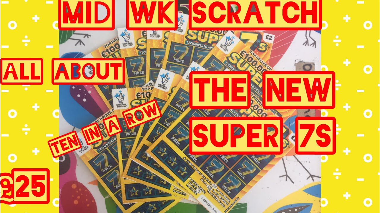 Super 7s Scratchcard