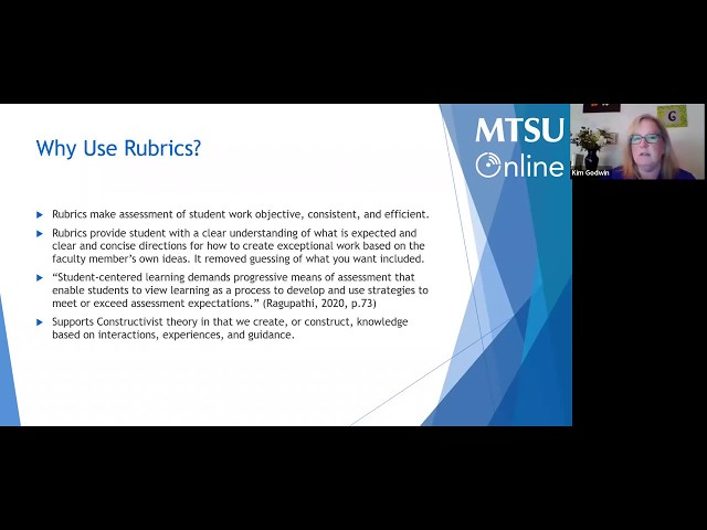 Grading Made Easier: Utilizing D2L Rubrics to Assess Discussions