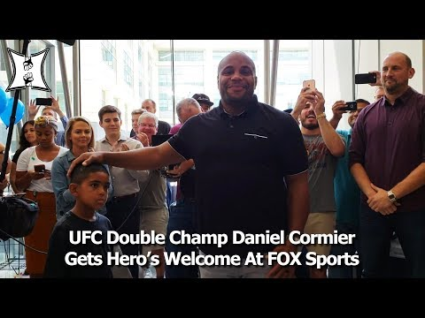 UFC Double Champ Daniel Cormier Gets Hero's Welcome At FOX Sports