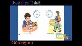 2 - ci sinif Həyat bilgisi - Gün rejimi