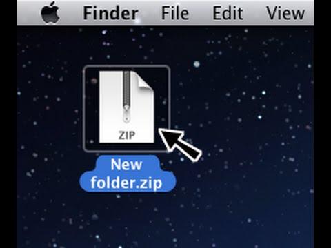 Tutorial: How to unzip files on Mac.