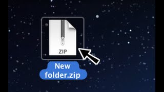 Tutorial: How to unzip files on Mac.