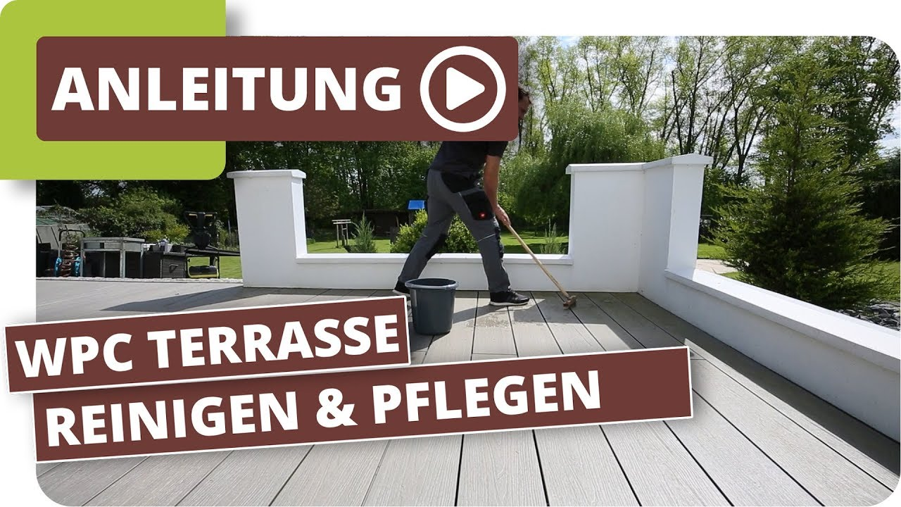 wpc terrassendielen reinigen und pflegen youtube. Black Bedroom Furniture Sets. Home Design Ideas