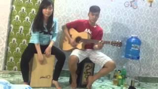 Test guitar+cajon phúc sĩ