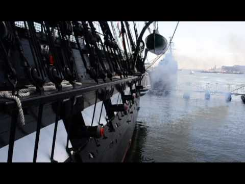 USS Constitution 21-Gun Salute Memorial Day 2013