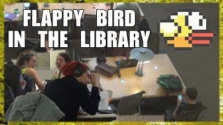 Public Prank - Flappy Bird In The Library