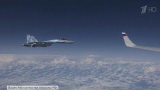 Над Балтикой к борту самолета российского министра обороны попытался приблизиться истребитель НАТО.
