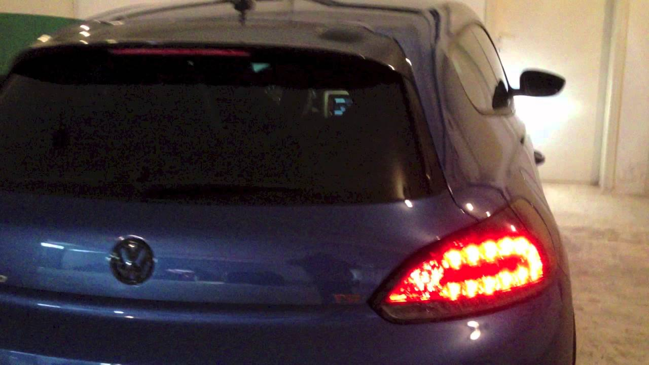 Vw Scirocco Dectane Led Tail Lights Red Smoke Youtube
