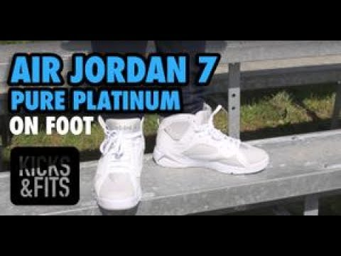 99498f533cb Kicks and Fits | Air Jordan 7 (VII) 'Pure Platinum' ON FOOT Review ...