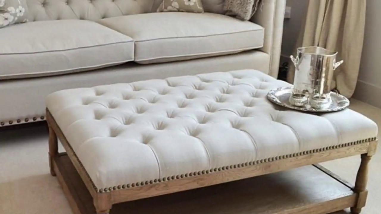 oversized square ottoman coffee table designs