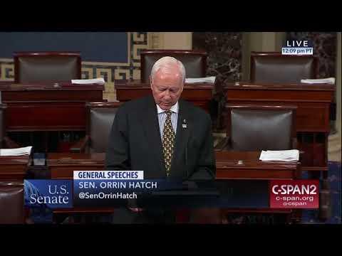 Senator Hatch pays Tribute to Las Vegas Victims, Elder Robert D. Hales