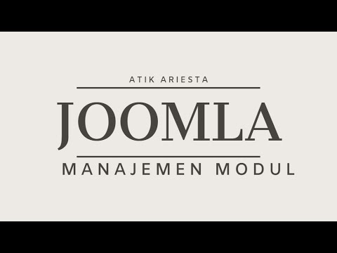 Joomla! 3.9 - Manajemen Modul thumbnail