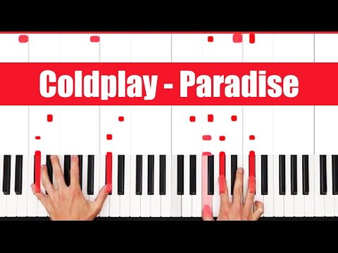 Paradise Coldplay Piano Chords Tutorial - EASY - PART 1