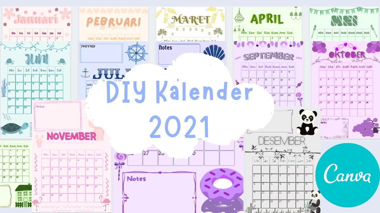Diy Simple Dan Aesthetic Kalender 2021 Youtube