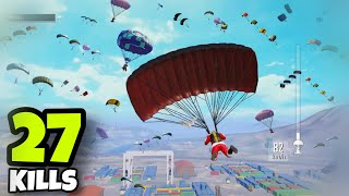 NEW BEST LANDING IN S10!!! | 27 KILLS SOLO VS SQUADS | PUBG MOBILE
