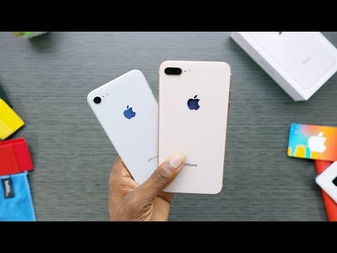 شاهدة عملية فتح صندوق الهاتفين iPhone 8 و iPhone 8 Plus