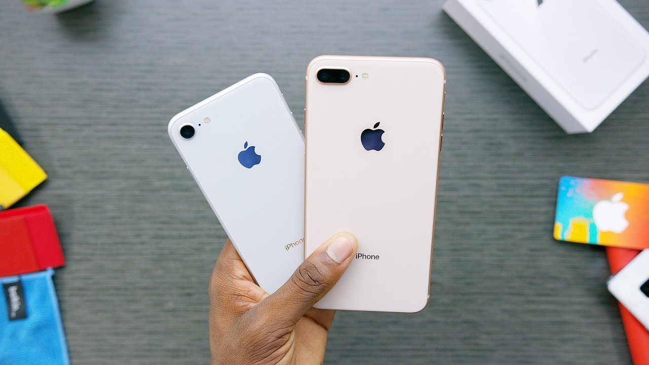 iphone 8 gold. iphone 8 unboxing: silver vs gold! iphone gold