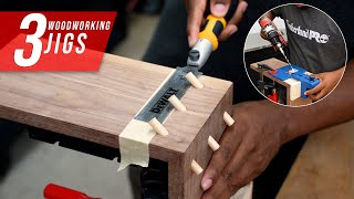 3 woodworking joinery jigs