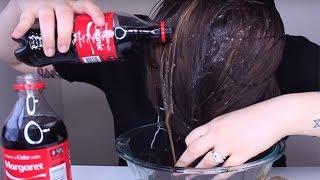 Diese Frau kippt Cola auf ihre Haare. Was dann passiert, hat uns umgehauen!