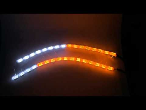 AUTOKI Crystal extend led flexible drl,switchback flexible drl ,running horse light flowing light