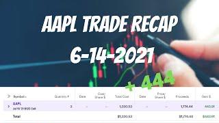 AAPL Trade Recap( $444) - 6-14-2021