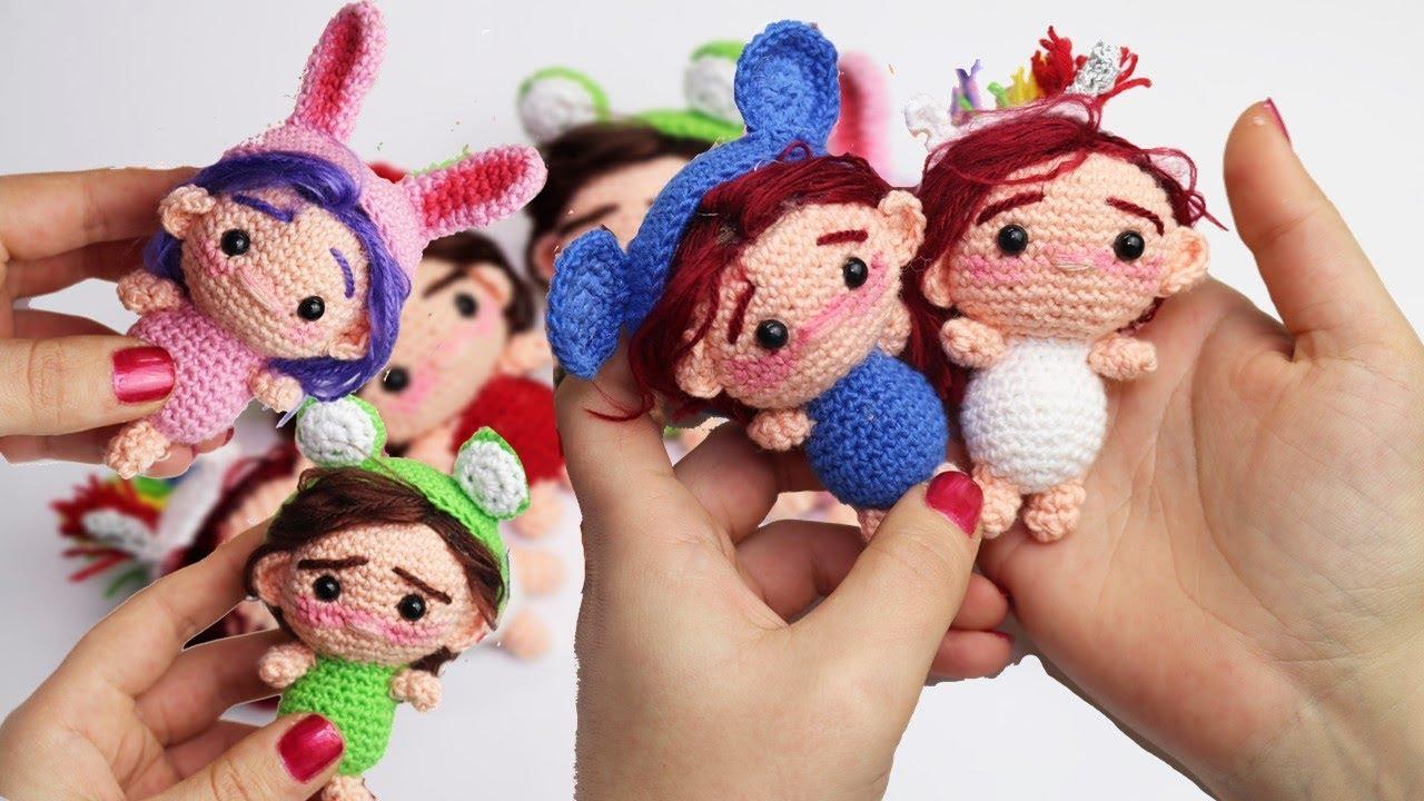 Amigurumis Muñecas : Amigurumi llavero muñecas pequeñas chibi patrón paso a paso youtube