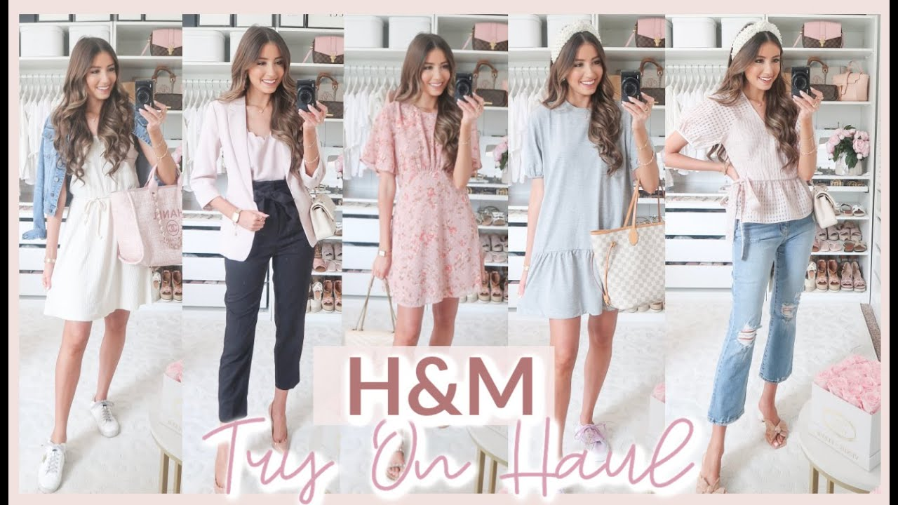 H&M TRY ON HAUL 2020 | summer into fall OUTFIT IDEAS 💕 CASUAL, WORKWEAR, DRESSY!
