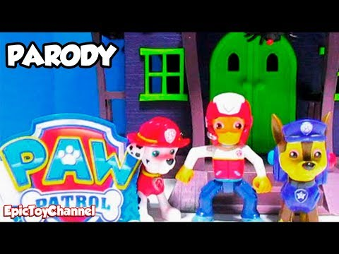 PAW PATROL [Parody Toy Video] Scooby Doo Haunted Mansion GAME SHOW by EpicToyChannel