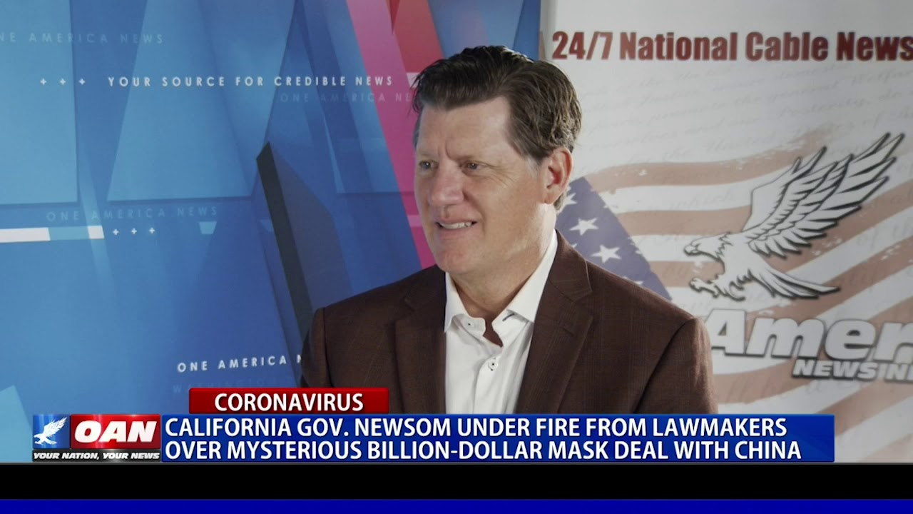 Gov. Newsom under fire for mysterious billion-dollar mask deal with China