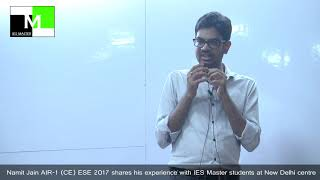 Namit Jain, IES Master Regular Classroom Student,in an Open Session at IES Master