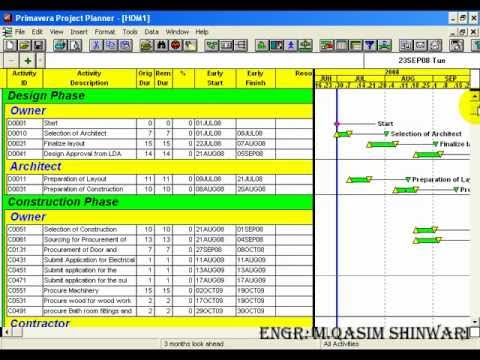 Primavera project planner 3 part 10 of 13 youtube for Project planner hd