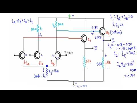 OR/NOR Gate of Emitter Coupled Logic