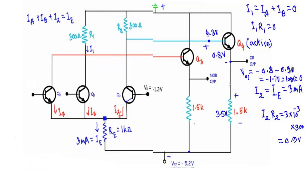 or nor gate of emitter coupled logic youtube cmos nand gate or nor gate of emitter coupled logic
